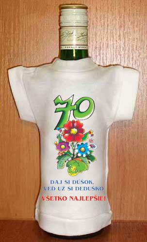 Tričko na fľašku pre 70-tnika  da2b0cf3559